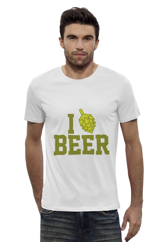 Футболка Wearcraft Premium Slim Fit Printio Я люблю пиво футболка wearcraft premium slim fit printio я люблю мир
