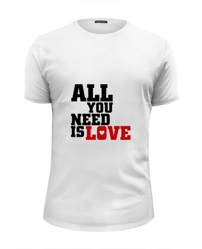 Футболка Wearcraft Premium Slim Fit Printio Любовь (love) футболка wearcraft premium slim fit printio футболка sunfamily one love black