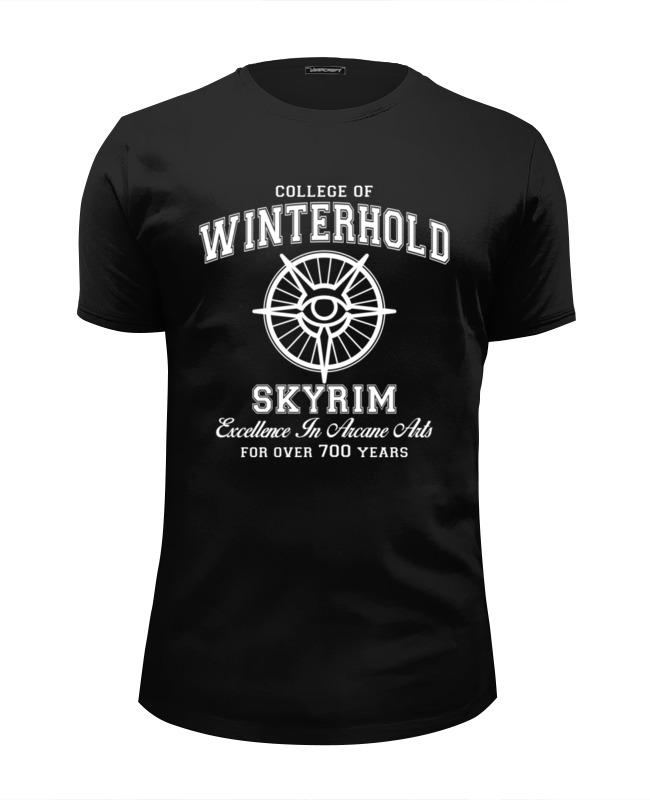 Футболка Wearcraft Premium Slim Fit Printio Скайрим. college of winterhold игра софтклаб the elder scrolls iii morrowind game of the year edition