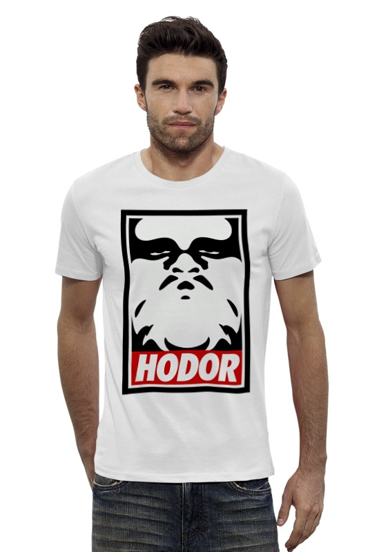 Футболка Wearcraft Premium Slim Fit Printio Hodor (obey) футболка wearcraft premium slim fit printio hodor x c 3po