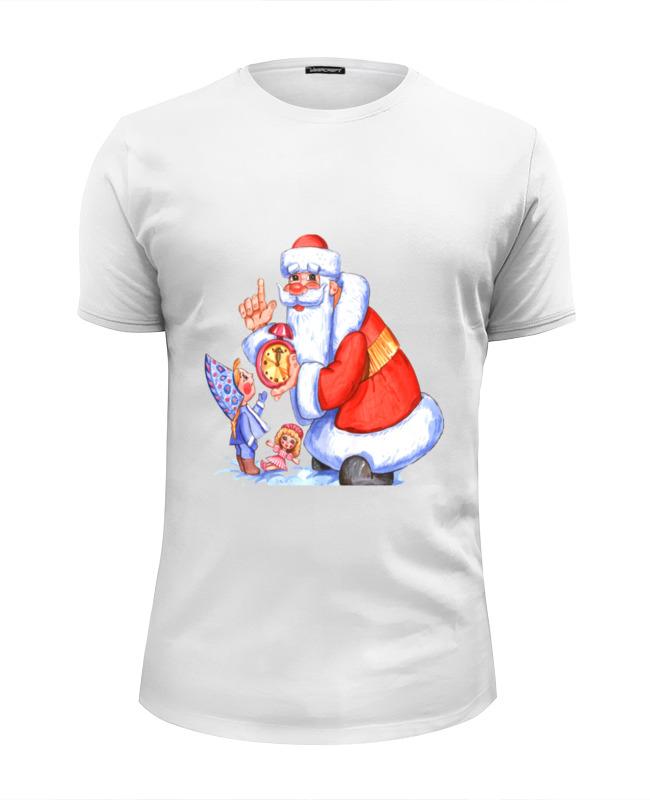 Футболка Wearcraft Premium Slim Fit Printio Дед мороз и снегурочка. с новым годом. русские подарки новогодний сувенир дед мороз и снегурочка