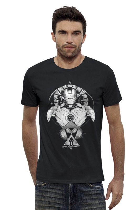 Футболка Wearcraft Premium Slim Fit Printio Железные человек железные решетки