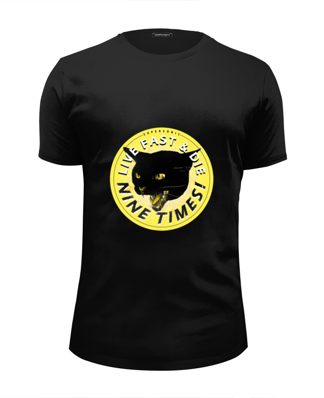 Футболка Wearcraft Premium Slim Fit Printio Чёрная кошка футболка wearcraft premium slim fit printio black cat черная кошка