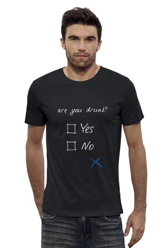 Футболка Wearcraft Premium Slim Fit Printio Ты пьян? футболка wearcraft premium printio украина мы любим тебя