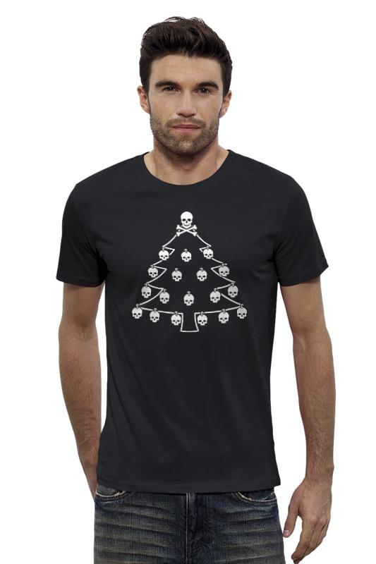 Футболка Wearcraft Premium Slim Fit Printio Новый год. ёлка с черепами. старый новый год с денисом мацуевым