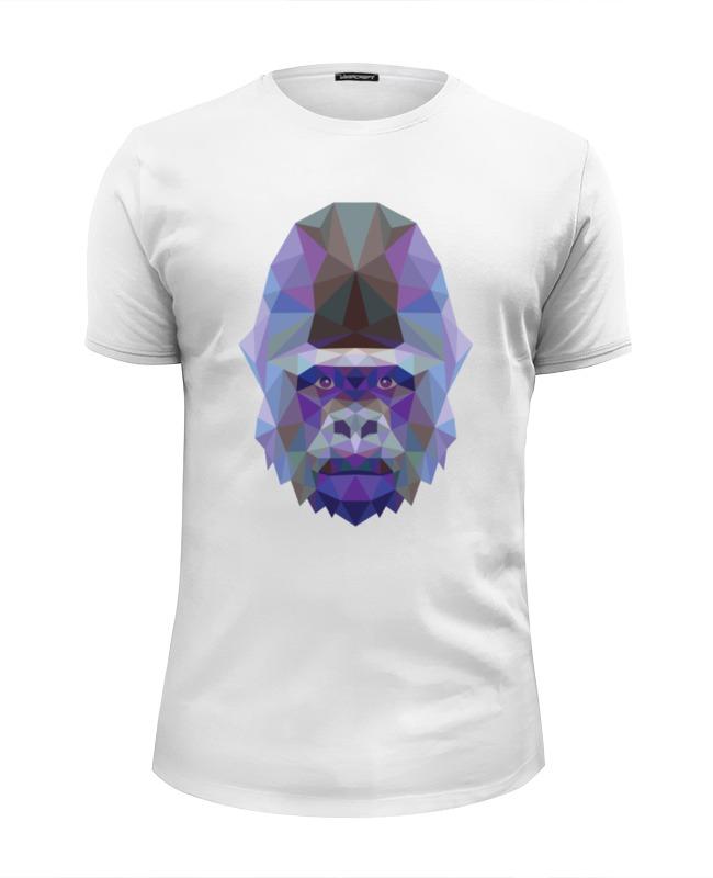 Футболка Wearcraft Premium Slim Fit Printio Полигональная горилла футболка wearcraft premium slim fit printio горилла