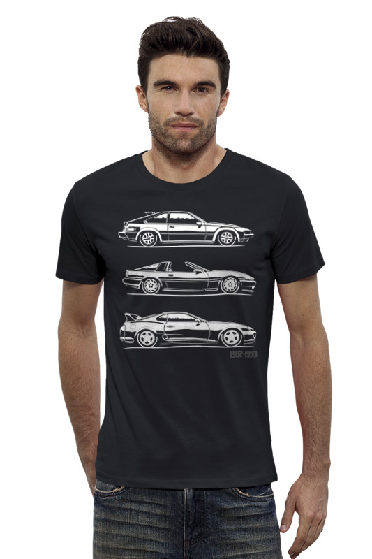 Футболка Wearcraft Premium Slim Fit Printio Toyota supra. generation katalog supra fit
