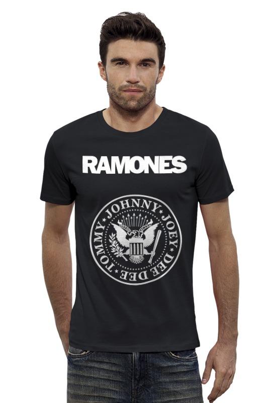 Футболка Wearcraft Premium Slim Fit Printio Ramones майка классическая printio ramones
