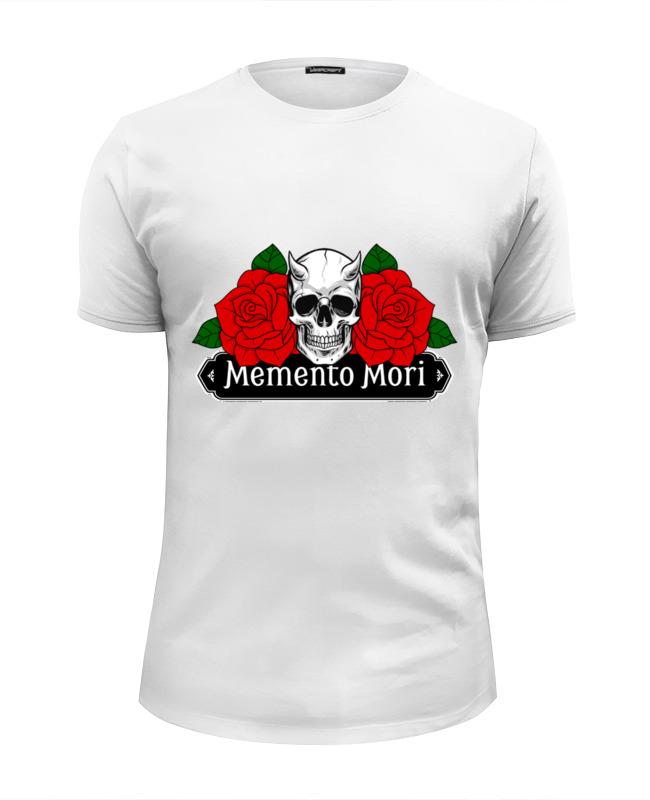 купить Футболка Wearcraft Premium Slim Fit Printio Memento mori | помни о смерти недорого
