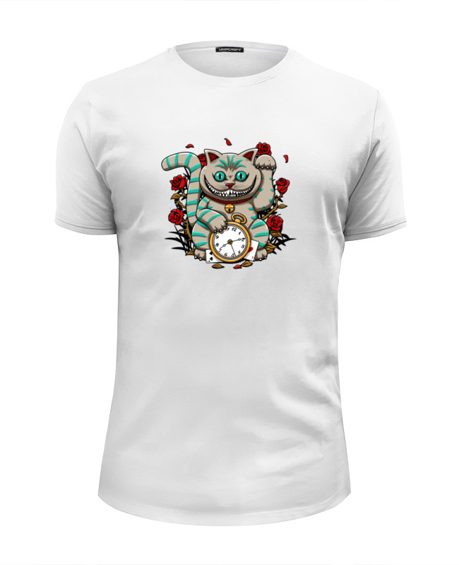 Футболка Wearcraft Premium Slim Fit Printio Чеширский кот (алиса в стране чудес) рудько м худ алиса в стране чудес