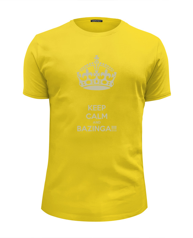 Футболка Wearcraft Premium Slim Fit Printio Keep calm and bazinga футболка wearcraft premium slim fit printio keep calm and bazinga