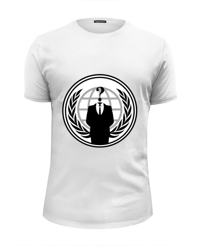 Футболка Wearcraft Premium Slim Fit Printio Anonymous anonymous celebrity