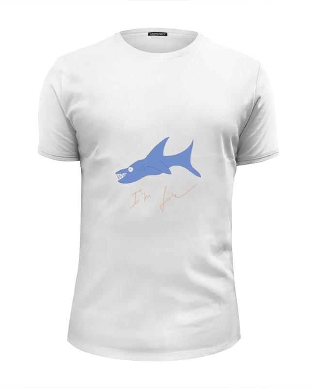 Футболка Wearcraft Premium Slim Fit Printio Акула новые приобретения пол акула акула кашемир сгущаться мужской свитер