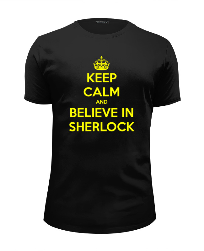 Футболка Wearcraft Premium Slim Fit Printio Верь в шерлока (believe in sherlock) футболка print bar believe in sherlock