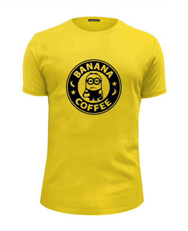 Футболка Wearcraft Premium Slim Fit Printio Banana coffee (minion) футболка wearcraft premium slim fit printio minion anatomia