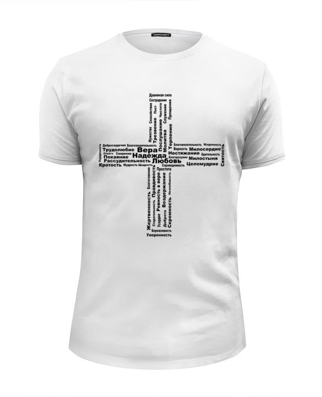 Футболка Wearcraft Premium Slim Fit Printio Крест христианские добродетели