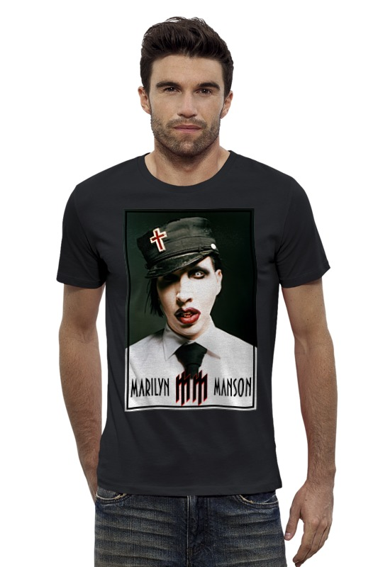Футболка Wearcraft Premium Slim Fit Printio Marilyn manson