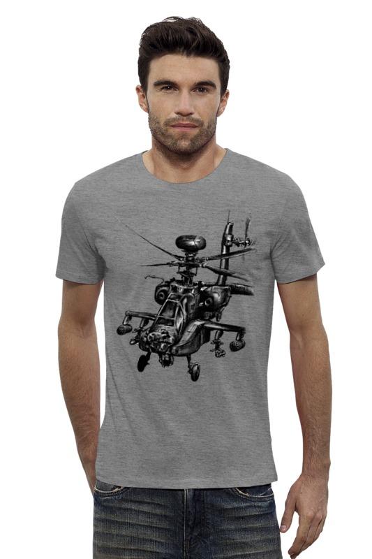 Футболка Wearcraft Premium Slim Fit Printio Апач (вертолёт) вертолёт моделист ан 64а