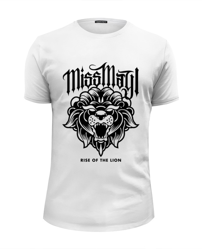Футболка Wearcraft Premium Slim Fit Printio Miss may i