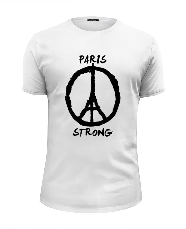 Футболка Wearcraft Premium Slim Fit Printio Париж сильный (мир парижу)