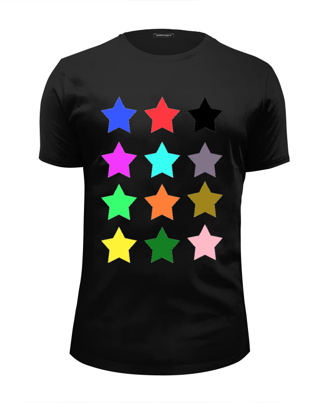 Футболка Wearcraft Premium Slim Fit Printio stars on the black пробковый пол corkstyle adventures stars black