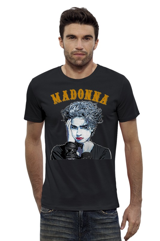 Футболка Wearcraft Premium Slim Fit Printio Madonna футболка wearcraft premium slim fit printio vampire