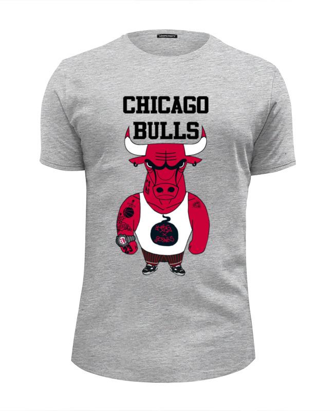 Футболка Wearcraft Premium Slim Fit Printio Chicago bulls велосипед bulls nandi 27 5 2017