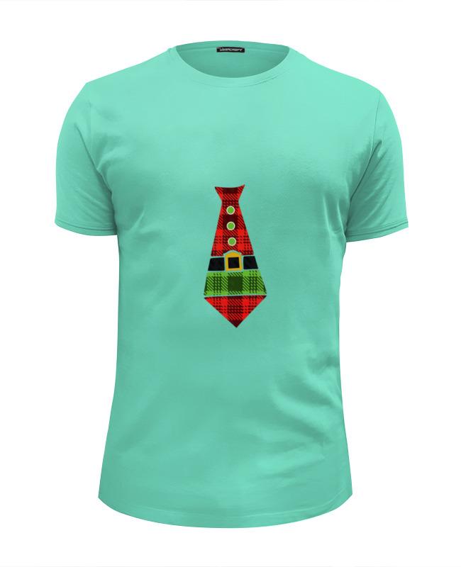 Футболка Wearcraft Premium Slim Fit Printio Santa tie girls tie neck polka dot dress