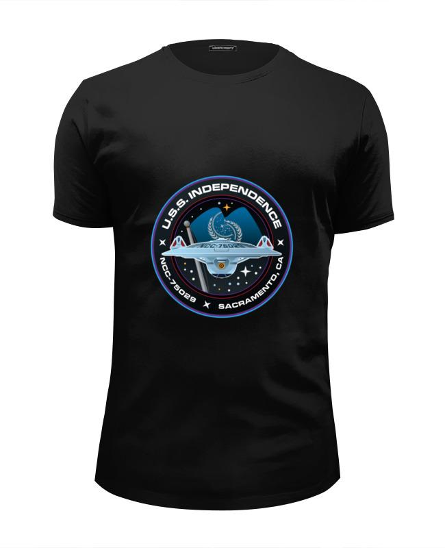 Футболка Wearcraft Premium Slim Fit Printio Звёздный путь футболка wearcraft premium slim fit printio starborg звёздный путь