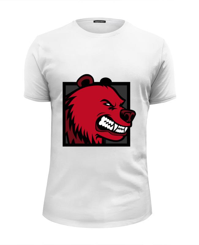 Футболка Wearcraft Premium Slim Fit Printio Red bear футболка wearcraft premium slim fit printio bear arms