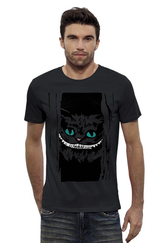 Футболка Wearcraft Premium Slim Fit Printio Чеширский кот (алиса в стране чудес) пейс п игра бродилка алиса в стране чудес