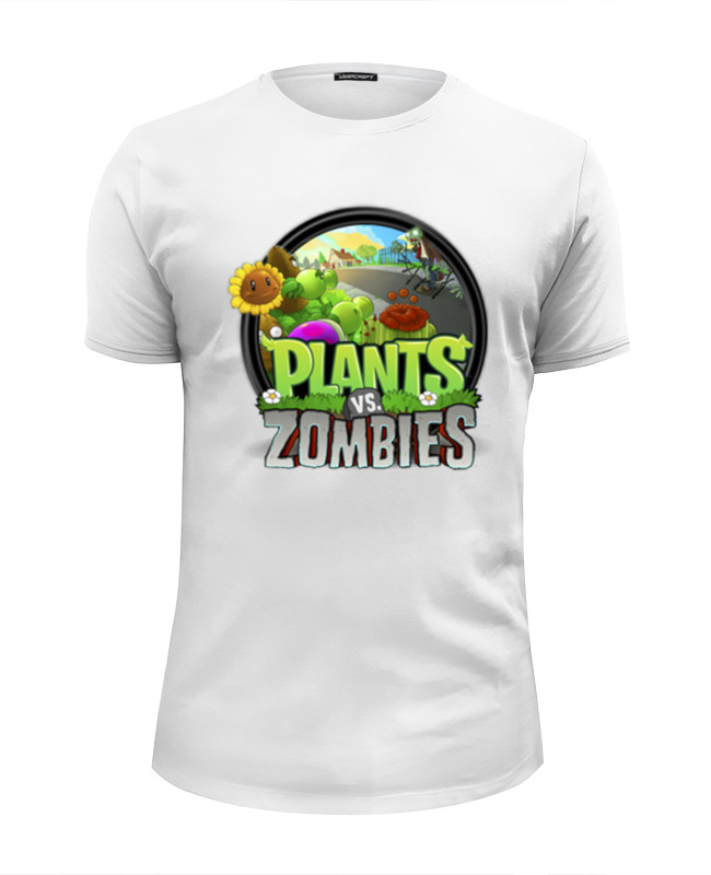 Футболка Wearcraft Premium Slim Fit Printio Plants vs zombies цена