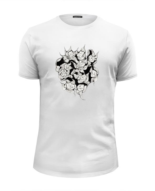 Футболка Wearcraft Premium Slim Fit Printio Абстрактные цветы