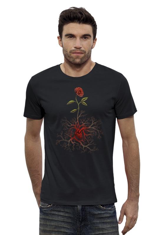 Футболка Wearcraft Premium Slim Fit Printio Роза и сердце пламенная роза тюдоров