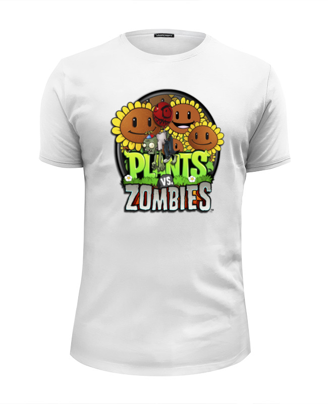 Футболка Wearcraft Premium Slim Fit Printio Plants vs zombies