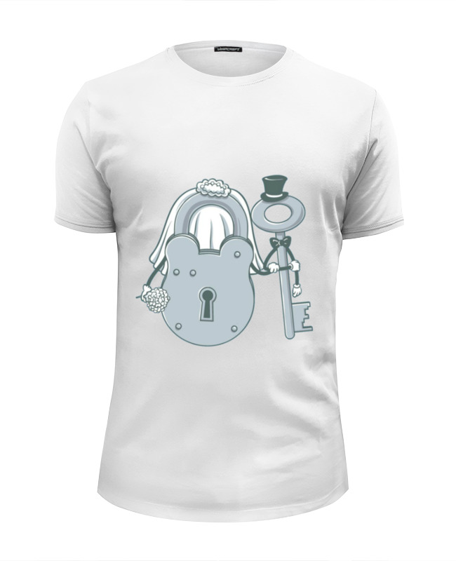 Футболка Wearcraft Premium Slim Fit Printio Жених и невеста футболка стрэйч printio невеста и жених