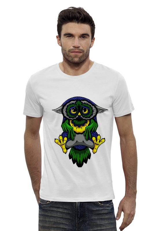 Футболка Wearcraft Premium Slim Fit Printio Грустная сова футболка wearcraft premium slim fit printio грустная сова