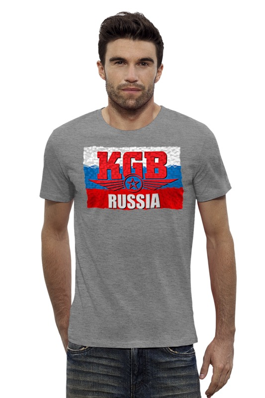 Футболка Wearcraft Premium Slim Fit Printio Kgb - russia футболка wearcraft premium slim fit printio россия russia