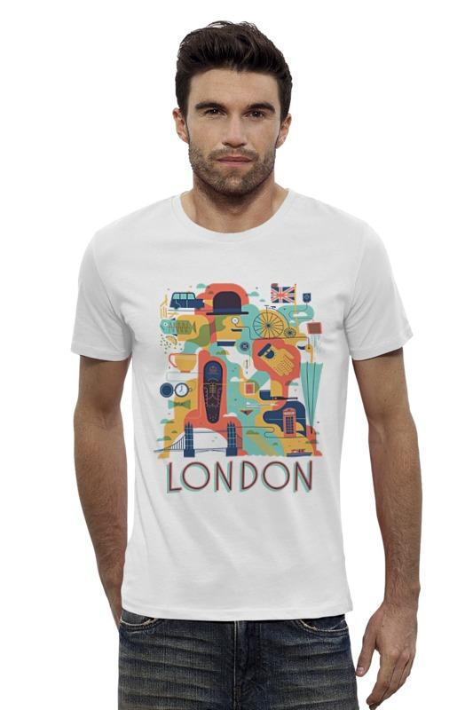 Футболка Wearcraft Premium Slim Fit Printio Лондон лонгслив printio лондон