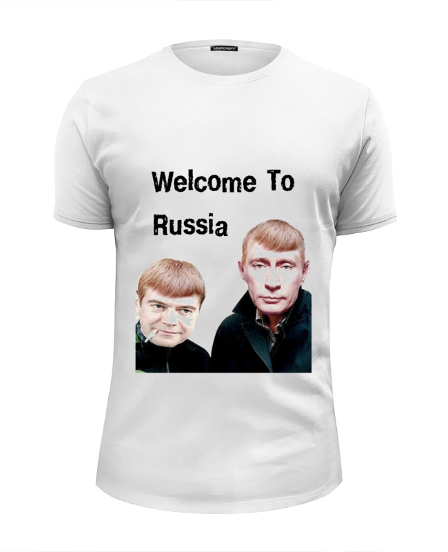 Футболка Wearcraft Premium Slim Fit Printio Welcome to russia футболка wearcraft premium slim fit printio welcome to new vegas