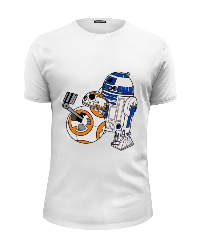 Футболка Wearcraft Premium Slim Fit Printio R2-d2 x bb-8 (star wars) сумка printio r2 d2 x bb 8 star wars