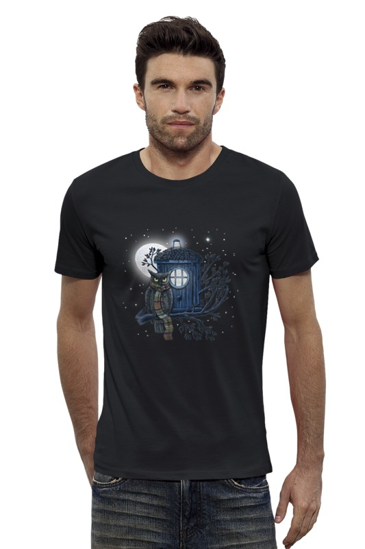 Футболка Wearcraft Premium Slim Fit Printio Сова и тардис футболка wearcraft premium slim fit printio ночная сова