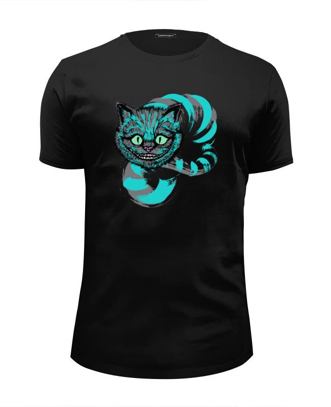 Футболка Wearcraft Premium Slim Fit Printio Чеширский кот футболка wearcraft premium slim fit printio усатый кот