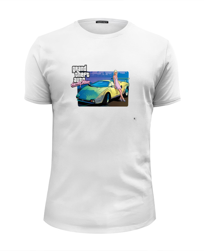 Футболка Wearcraft Premium Slim Fit Printio Grand theft auto vice city