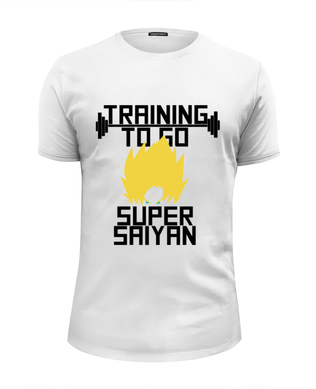 Футболка Wearcraft Premium Slim Fit Printio Training to go super saiyan цены онлайн
