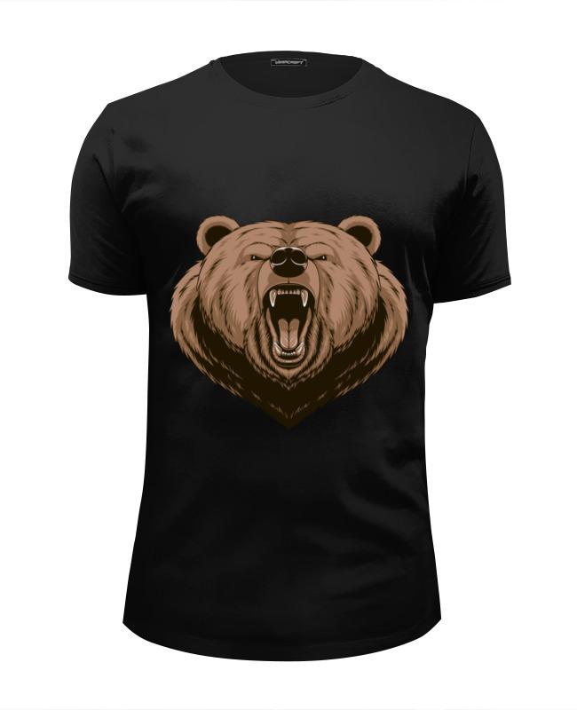 Футболка Wearcraft Premium Slim Fit Printio Медведь футболка wearcraft premium slim fit printio горячие головы 2