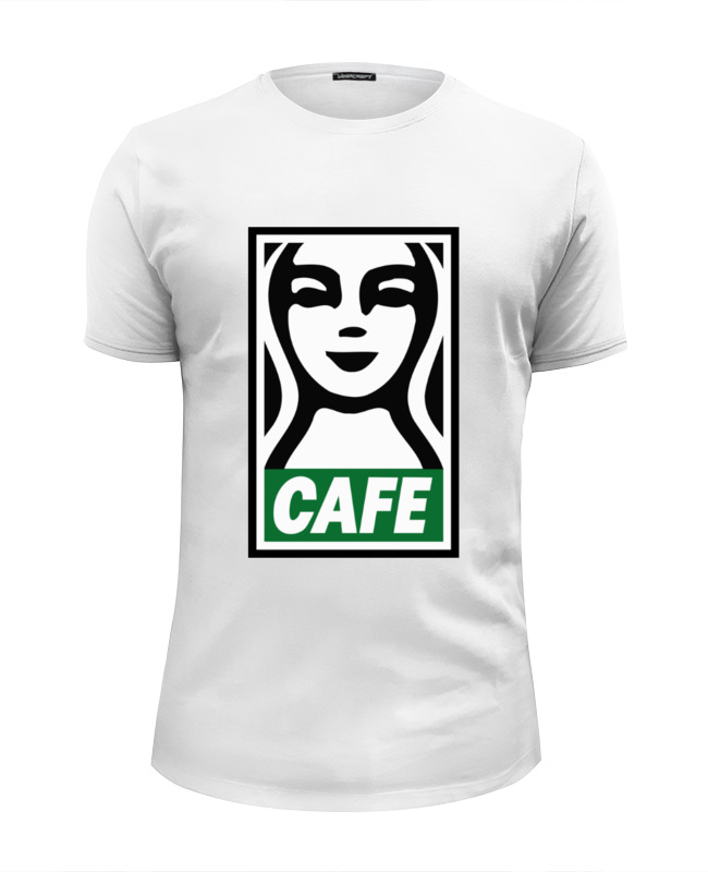 Футболка Wearcraft Premium Slim Fit Printio Starbucks (obey) футболка wearcraft premium printio belles book cafe starbucks