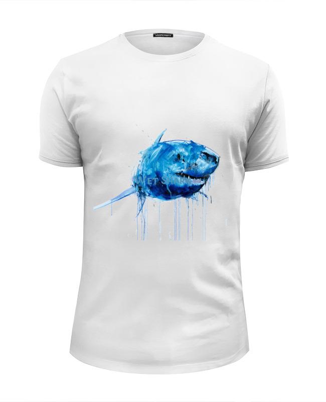 Футболка Wearcraft Premium Slim Fit Printio Акула футболка wearcraft premium printio акула shark
