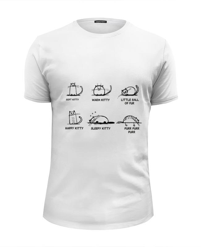 Футболка Wearcraft Premium Slim Fit Printio Песня шелдона про котенка футболка wearcraft premium slim fit printio flash футболка шелдона