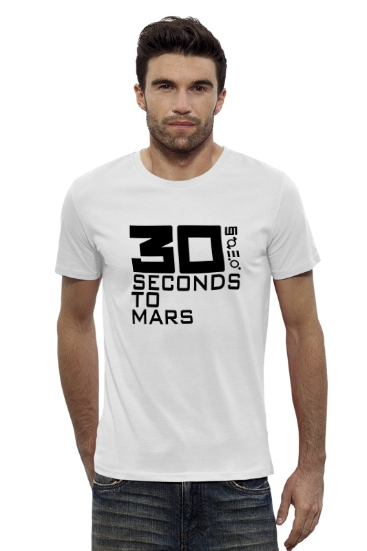 Футболка Wearcraft Premium Slim Fit Printio 30 seconds to mars mission to mars